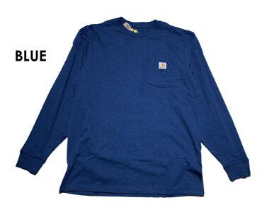 『CARHARTT/カーハート』crhtt-k126LONGSLEEVEWORKWEARPOCKETT-SHIRT/ロングスリーブワークウェアポケットTシャツ-全8色-「カジュアル」「コットン」「リブ」「アメカジ」「K126」[CRHTT-K126]