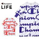 Champion LIFE チャンピオン cl-t19s HERITAGE TEE ALL OVER PRINT / ヘリテージTシャツ オールオーバープリント-全2色- コットン ロゴ ポケット 半袖 バインダーネック 刺繍 限定 海外限定 総柄 ユニセックス[cl-t19s]