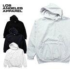 『LOS ANGELES APPAREL / ロサンゼルスアパレル』 L-HF09 Heavy Fleece Crew Hoded Pullover Sweatshirt / ヘビーフリース クルー フードプルオーバー スウェットシャツ -全4色- Tシャツ/ユニセックス/ビンテージ[L-HF09]