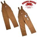 『ROUND HOUSE/ラウンドハウス』17RH383 HEAVY DUTY BROWN DUCK BIB OVERALLS / ヘビーデューティブラウンダック ビブ オーバーオール..