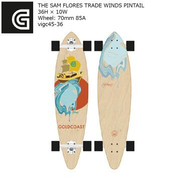 GOLDCOAST THE SAM FLORES TRADE WINDS PINTAIL 36H×10W vigc45-36 ピンテール コンプリート ゴールドコースト ソフトウィール