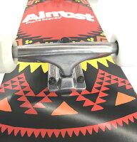 ALMOSTスケートボードコンプリートセット8.0インチ【AztekGeoBlack】スケボーオールモストデッキ