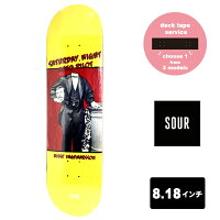 SOURSOLUTIONDECKスケートボードデッキ8.18インチ【Nisse-Saturday-8.18】スケボーサワーソリューションSKATEBOARD