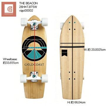 GOLDCOAST THE BEACON Cruiser vigc00002 26H×7.875W 街乗り クルーザー コンプリート ゴールドコースト スケートボード ソフトウィール