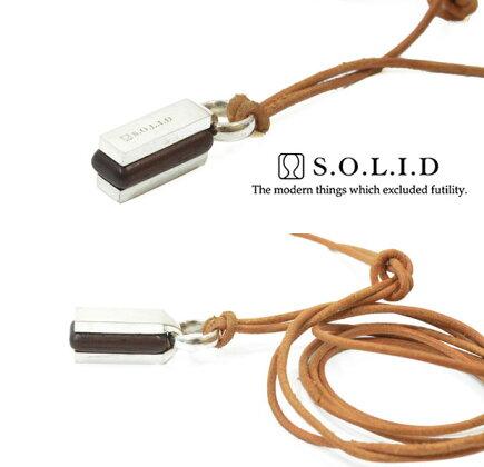 SOLIDソリッドSNA-31Box木/woodnecklace/ネックレスsilver925/シルバーLEATHER/レザーメンズ/レディース/アクセサリー【対応】