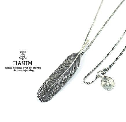 HARIMハリムHRT006BKFeatherNecklace/M【RIGHT】Silverシルバーフェザーネックレスメンズレディース【対応】