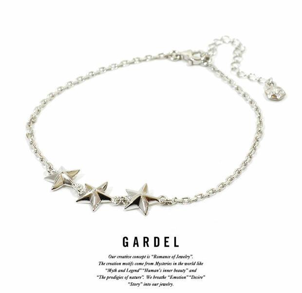 メンズジュエリー・アクセサリー, ペンダントトップ GARDEL GDA-002TS Trinity Star Anklet silver925 STAR
