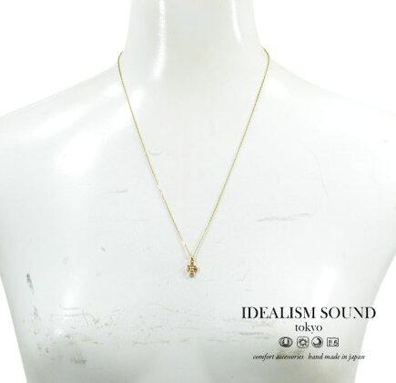 idealismsoundイデアリズムサウンドNo.11021ネックレス/necklaceK10GOLD/ゴールド/K10YGスタッズクロス/アンティーク/ハンドメイドメンズ/レディース/アクセサリー【対応】