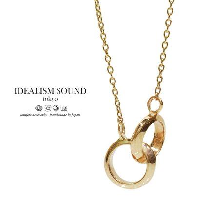 【idealismsound】/イデアリズムサウンドidealismsound/No.11003ネックレス/necklaceK10GOLD/ゴールド/10金サークルネックレス/メンズ/レディース/アクセサリー【対応】