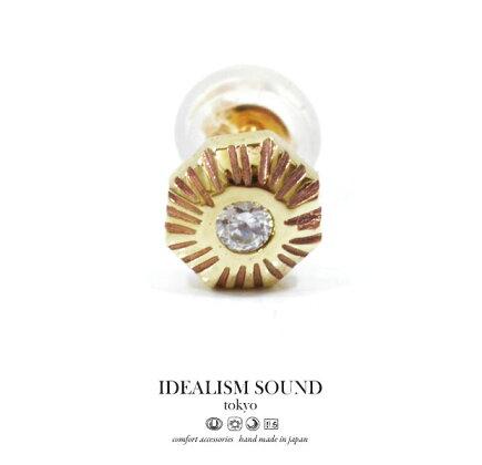 idealismsoundイデアリズムサウンドNo.14041K10Diamondピアス/Pierce天然石/ダイヤモンドハンドメイド/アンティーク/ネイティブメンズ/レディース/アクセサリーK10GOLD/ゴールド