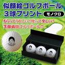 楽天似顔絵ゴルフボール3球プリント楽ギフ_名入れ10P01Mar15