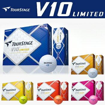 2014新製品ブリヂストン日本正規品ツアーステージV10LIMITED(ブイテンリミテッド)ゴルフボール1ダース(12個入)※2月14日発売予定※