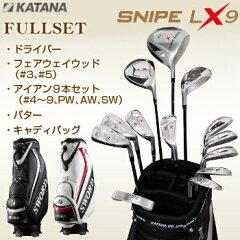 KATANA GOLFカタナゴルフ日本正規品SNIPE WOOD LX9シリーズフルセット(DR、FW#3、FW#5、#4I〜PW、AW、SW、PT)+キャディバッグ