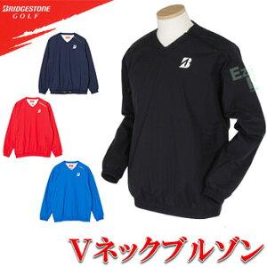 ブリヂストンゴルフ日本正規品 Suizing(水神) レインVネック メンズブルゾン(上) 「86G04」【あす楽対応】