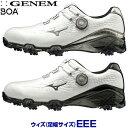 【3E】ミズノゴルフ日本正規品 GENEM009 BOA(ジェネムボア) ソフトスパイクゴルフシューズ 2019モデル 「51GM1900」 【あす楽対応】・・・