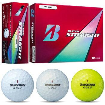 2017新製品ブリヂストン日本正規品SUPERSTRAIGHT(スーパーストレート)ゴルフボール1ダース(12個入)【あす楽対応】