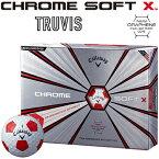 Callaway(キャロウェイ)日本正規品 CHROME SOFT X TRUVIS (クロムソフトエックス トゥルービス) 2018モデル ゴルフボール1ダース(12個入)【あす楽対応】