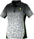 GOSEN(ゴーセン) (レディース テニス・バドミントンウェア) ゲームシャツ ブラック