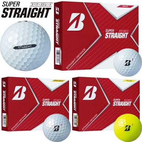 2021年モデル日本正規品ブリヂストンゴルフスーパーストレートゴルフボール1ダース(12個入り)「BRIDGESTONEGOLF