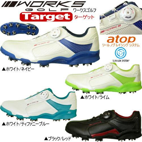 ワークスゴルフターゲットダイヤル式ソフトスパイク ゴルフシューズ日本正規品