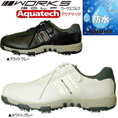 ワークスゴルフアクアテック防水ソフトスパイク ゴルフシューズ日本正規品