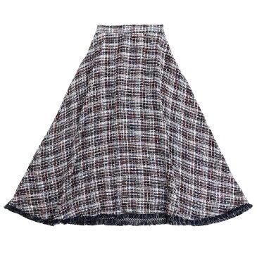 シスタージェーン/sisiter jane ツイード 千鳥柄 ロングスカート ブルー  Mサイズ