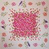 echino(エチノ)綿大ふろしきchirping(さえずり)ピンク(118cm)商品画像