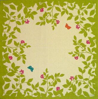 Furoshiki echino ( エチノ ) 綿中 furoshiki flower garden ( flower ) green (75 cm) made in Japan 10P04Aug13