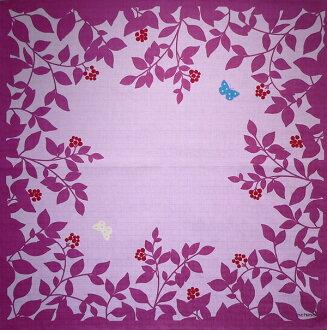 Furoshiki echino ( エチノ ) 綿中 furoshiki flower garden ( flower ) purple (75 cm) made in Japan 10P04Aug13