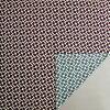 伊砂文様両面染め新芽(ムラサキ/ブルー)綿シャンタンふろしき(104cm)商品画像