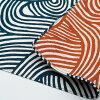 伊砂文様両面染め結(ムラサキ/グリーン)綿シャンタンふろしき(104cm)商品画像