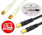 【接栓-接栓1M】地上デジタル対応75Ω同軸S5CFBアンテナケーブル1m