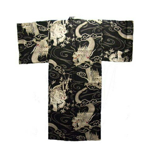 [SB]FJK 日本の紳士着物 綿・浴衣竜虎 LLサイズ U-102-LL FJK9354700028