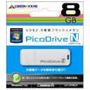 【ポイント10倍】[SB]GREENHOUSE USBフラッシュメモリ ピコドライブN 8GB GH-UFD8GN : GHUFD8GN