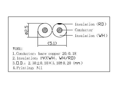 [ラッキーシール対応][W]スピーカーケーブル外径2.5mm[OFC]10mブラック【1本入り】C10010A