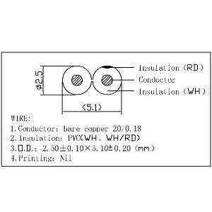 【W】スピーカーケーブル赤白【OFC】5m×2本セットC-077