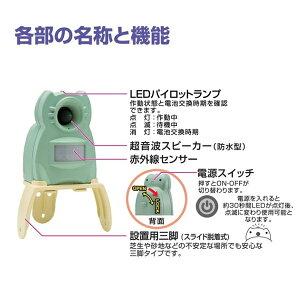 【ポイント5倍】[ラッキーシール対応][返金保証][猫よけ対策][猫よけグッズ]猫退治・猫撃退・猫よけセンサーで超音波を!ガーデンバリアミニGDXM