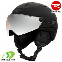ROSSIGNOL【21/22・FITVISORIMPACT:BLACK】Mensロシニョールフィットバイザーインパクトメンズ男性用スキーヘルメットバイザー付ゴーグル不要SKIHELMET[RKKH202]