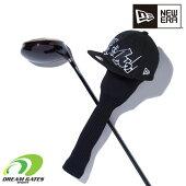 NEWERA【GOLFHEADCOVERONEPIECESKULL(どんっ!):BLACK】ゴルフヘッドカバードライバー用ニューエラワンピース460cc対応