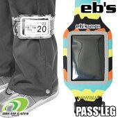 eb's【PASSLEG:NULUNULU】エビスパスレッグ足に巻きつけるタイプのパスケースチケットホルダーチケットケースクリアウィンドウ足巻タイプ[メール便対応可]