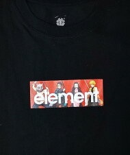 ELEMENT【BB022287:BLK】メンズ半袖Tシャツエレメント【鬼滅の刃】KIMETSUAS/STシャツ男性用[メール便対応可]