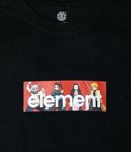 ELEMENT【BB026292:BLK】YOUTH(キッズサイズ)半袖Tシャツエレメント【鬼滅の刃】KIMETSUASSBOYTシャツ(130cm~160cm)子供服ボーイジュニアユース[メール便対応可]