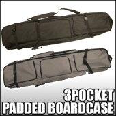 オリジナルスノーボードケースパッド付、背負い可能タイプ3ポケットタイプ[DG-1703]