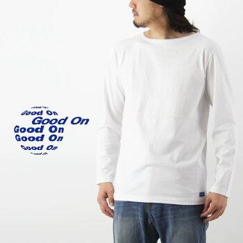 GoodOnグッドオンL/SBoatNeckTee長袖ボートネックTシャツ(メンズ無地日本製アメリカコットンgoodonグッドオン#GOLT1503C)