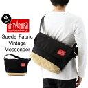Manhattan Portage マンハッタンポーテージ Suede Fabric Vintage Messenger Bag スエードファブリック ヴィンテージ メッセンジャー バッグ Mサイズ ( メッセンジャーバッグ ショルダー バッグ メンズ レディース MP1606VJRSD12 )