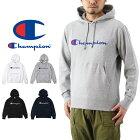 Championチャンピオンロゴプリントプルオーバーフーデッドスウェットパーカー(メンズトップス長袖プルパーカーBASICベーシックC3-J117)