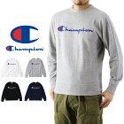 Championチャンピオンロゴプリントクルーネックスウェットシャツ(メンズトレーナー長袖トップスBASICベーシックC3-H004)