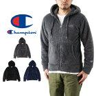 Championチャンピオンジップフードボアフリースジャケット(メンズトップスアウター羽織り長袖BASICベーシック無地C3-J618)