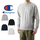 Championチャンピオンポケット付きクルーネックスウェットシャツ(メンズ長袖トレーナートップス無地C3-J031)