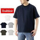 Healthknitヘルスニットマックスウェイトクルーネック半袖ビッグTシャツ(メンズトップスポケTヘビーウェイト無地7558)
